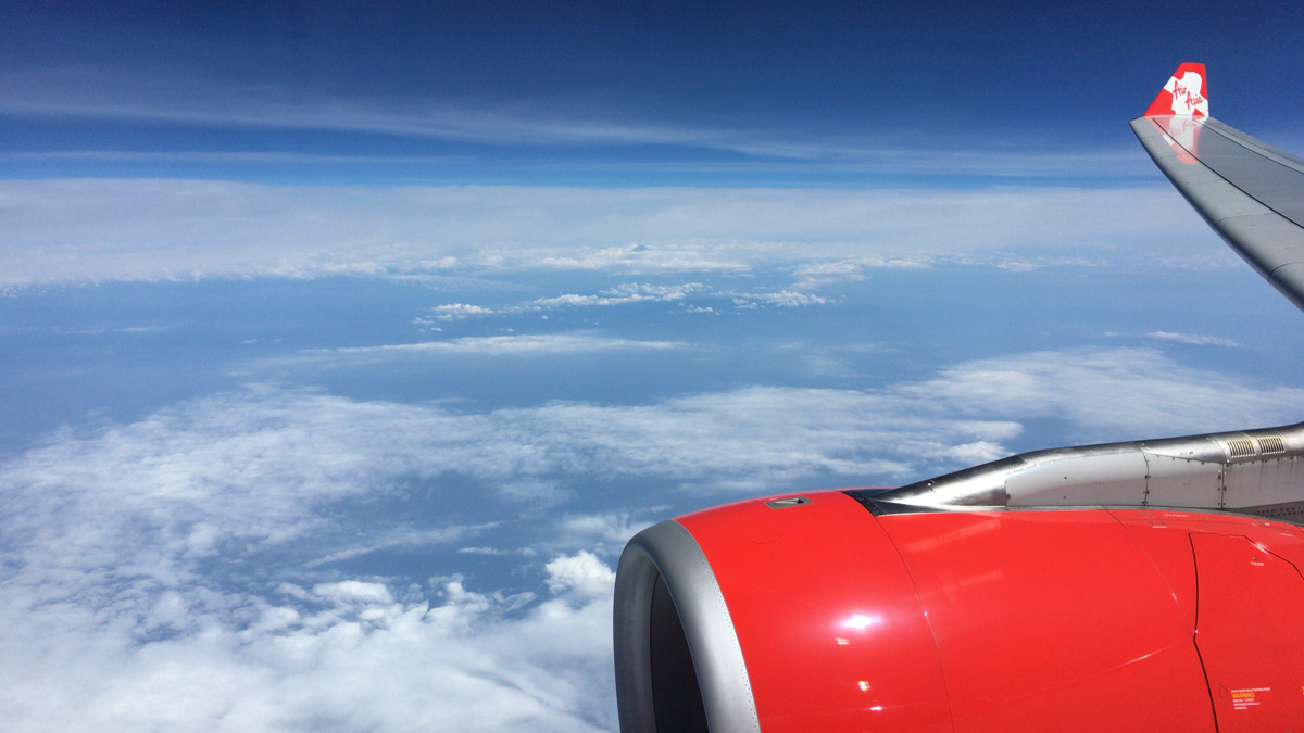 エアアジア 飛行風景