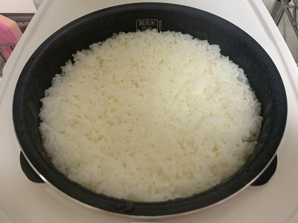 アイリスオーヤマ IH炊飯器 RC-IK50-W 炊きあがり