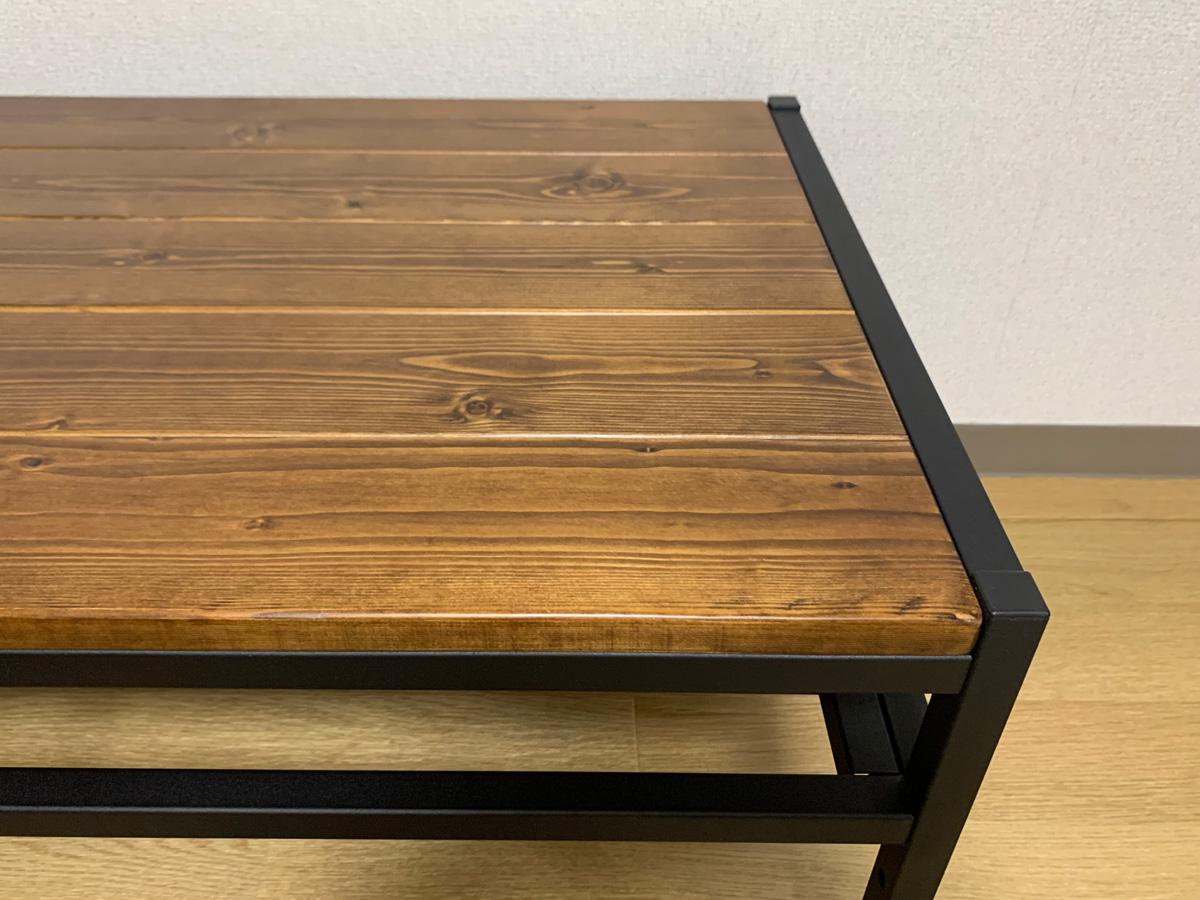 アイリスプラザ ローテーブル BRTHLTBL 天板 さらりとした手触りが心地良いパイン無垢材